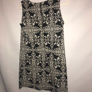 Haani Dresses - black and white print dress